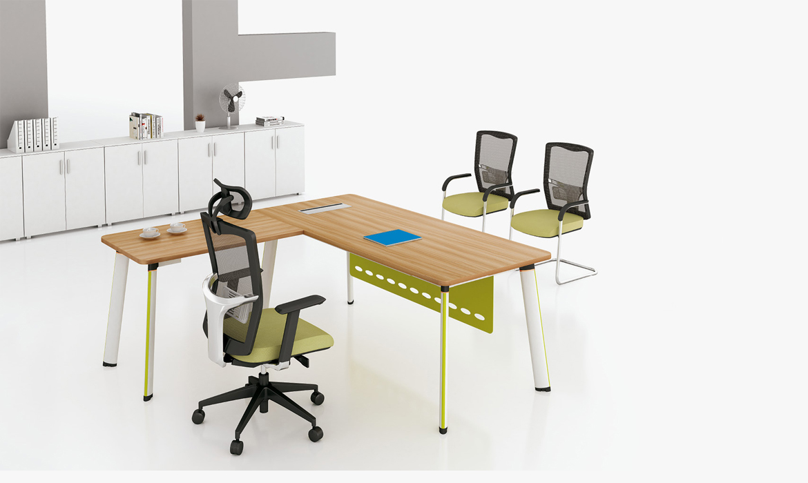Conception de disposition de table de bureau de bureau moderne commercial (HC-91)
